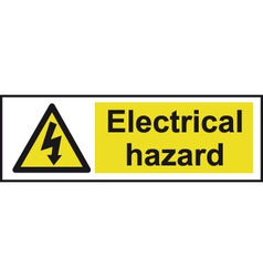 Electrical Hazard Safety Sign vector image vector image