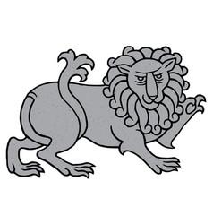 powerful heraldic lion vector image