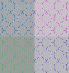 Set of Abstract Seamless Pattern vector image