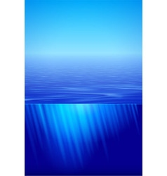 Sunshine over calm water vector image vector image