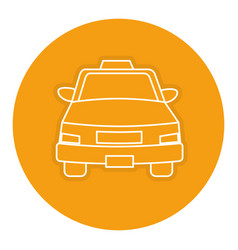 taxi front service icon vector image