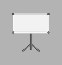 blank projection screen with copy-space vector image