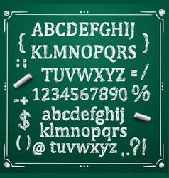 board with a set of sketch symbols vector image vector image