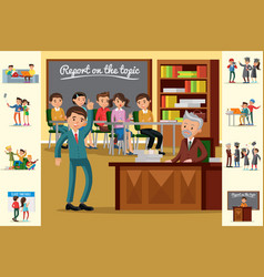 colorful education concept vector image vector image
