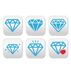 Diamond luxury buttons set vector image vector image