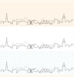glasgow hand drawn skyline vector image