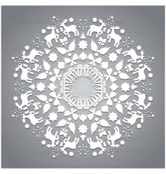 Circle ornament round ornamental geometric pattern vector image vector image