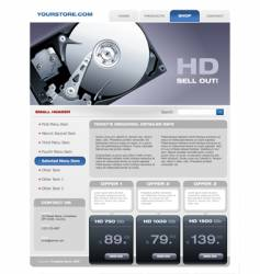 hard disk promotional brochure vector image