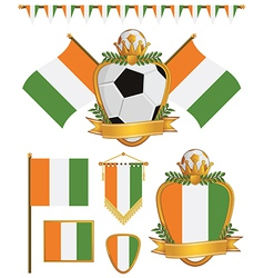 ivory coast flags vector image vector image