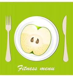 Template of a vegetarian menu vector image