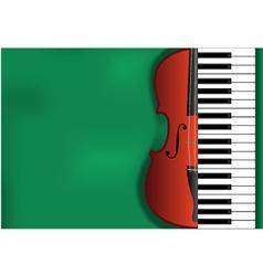 violin piano background vector image