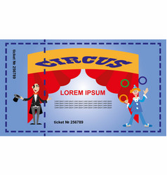 A ticket for the circus vector