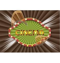 cinema backgrouhnd vector image vector image