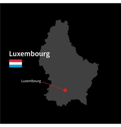 Detailed map of Luxembourg and capital city vector image vector image