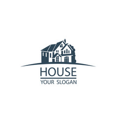 Emblem of house vector
