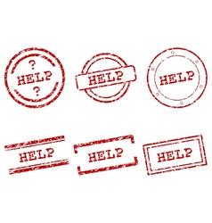 Help stamps vector image
