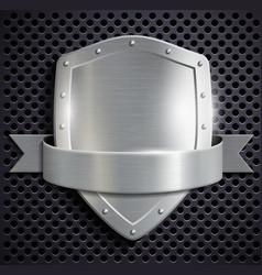 Metal shield vector