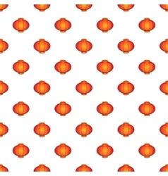 Oriental red lantern pattern cartoon style vector image