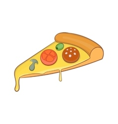 Pizza slice icon cartoon style vector image vector image