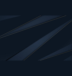 Abstract dark blue geometric and gold lines shape vector
