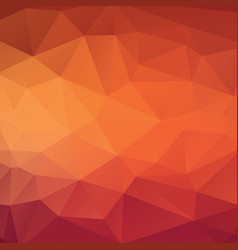 Abstract triangle background in golden red tones vector
