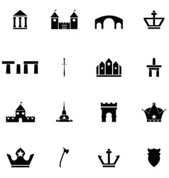 Archeology icon set vector