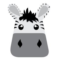 avatar of zebra vector image