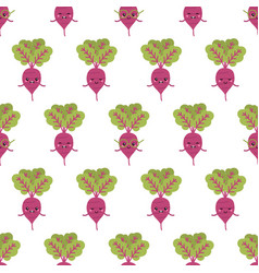 beet characters seamless pattern background vector image