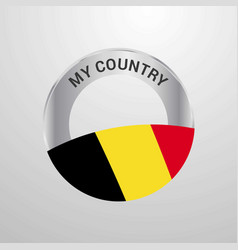 belgium my country flag badge vector image