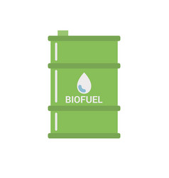 Biofuel barrel icon vector