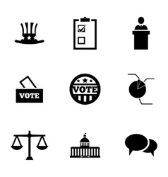 Black electiion icons set vector