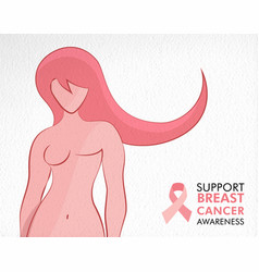 breast cancer awareness survivor woman concept vector image