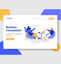businessman doing business consultation concept vector image