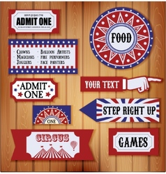 Carnival Signs vector image