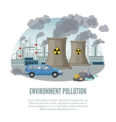 Cartoon Environmental Pollution Template vector