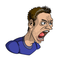 Cartoon image of shouting man vector