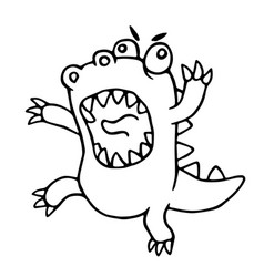 cartoon mad dragon vector image
