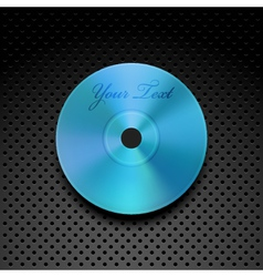 Compact Disc on a Metallic Background vector image