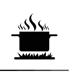 cooking on fire icon design vector image