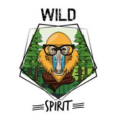 Cool wild animal print for t shirt vector