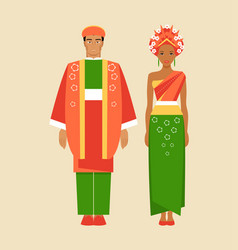 Costumes of indonesia vector