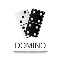 Creative domino full set isolated on white vector