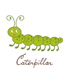 Cute colorful caterpillar character vector