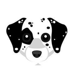 Cute dalmatian avatar dog vector
