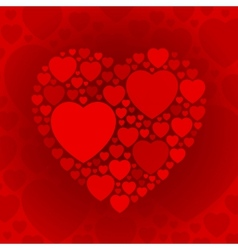 Dark red heart shape on maroon background vector image