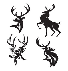 deer logo set premium design vector image