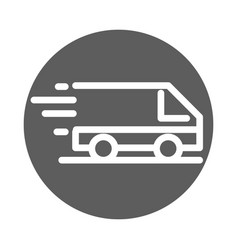 delivery cargo service logistic fast commercial vector image