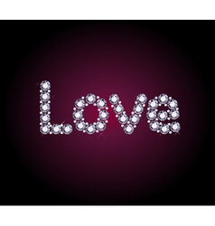 Diamond Love Word vector image