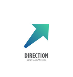 direction logo for business company simple vector image
