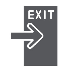 Exit glyph icon evacuate and emergency output vector
